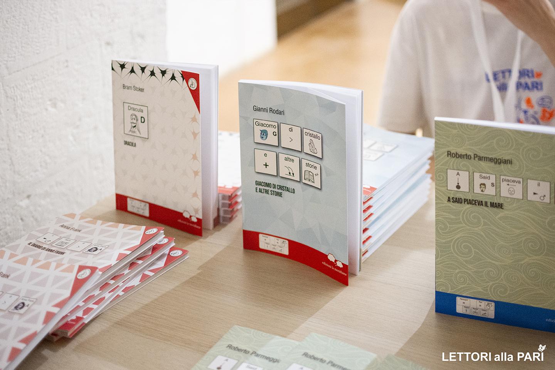 Tre libri accessibili di edizioni la meridiana